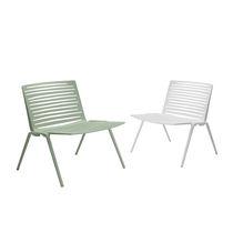 Chauffeuse contemporaine / en aluminium / blanche / verte