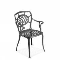 Chaise classique / avec accoudoirs / en métal / en aluminium