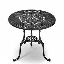 Table classique / en bronze / ronde / de jardin