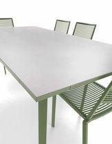 Table contemporaine / en aluminium / rectangulaire / de jardin