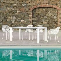 Table contemporaine / rectangulaire / de jardin / à rallonge