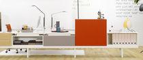 Bureau pour open space / en bois / en MDF / contemporain