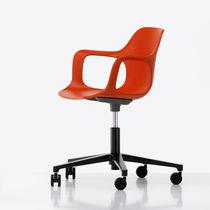 Chaise de bureau contemporaine / pivotante / à roulettes / avec accoudoirs