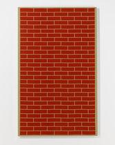 Panneau décoratif mural / en tissu / imprimé / aspect brique