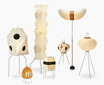Lampe de sol / design original / en papier / par Isamu Noguchi