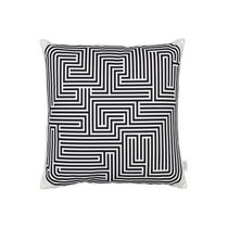 Coussin pour canapé / carré / à motif / en coton