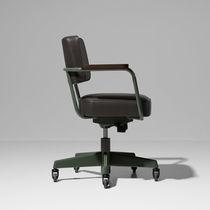 Chaise de bureau contemporaine / pivotante / à roulettes / tapissée