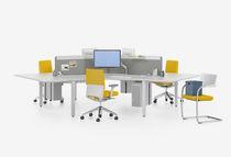 Bureau pour open space / en bois / contemporain / professionnel