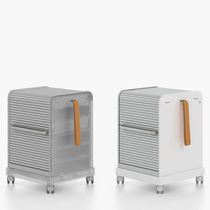 Caisson de bureau en métal / à porte coulissante / à roulettes / par Antonio Citterio