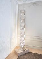 Colonne lumineuse contemporaine / en acier inox / halogène / d'intérieur