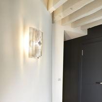 Applique murale contemporaine / en acier inoxydable / à halogène / rectangulaire