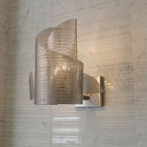 Applique murale contemporaine / en acier inoxydable / à halogène