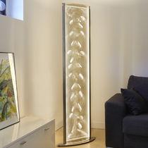 Colonne lumineuse contemporaine / en acier inoxydable / à LED / d'intérieur