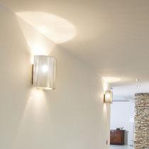Applique murale contemporaine / en acier inoxydable / à LED / à halogène