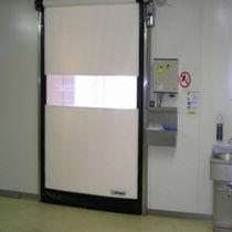 Porte industrielle enroulable / en PVC / rapide