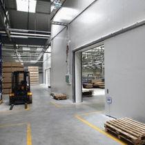 Porte industrielle coulissante / en métal / automatique