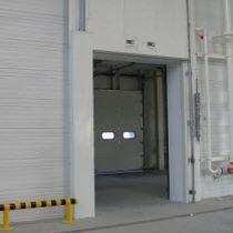 Porte industrielle à guillotine / en métal / automatique