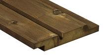 Bardage en bois de feuillus / lisse / en panneaux / durable
