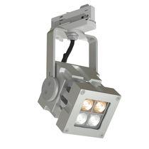 Éclairage sur rail à LED / carré / en aluminium massif / professionnel