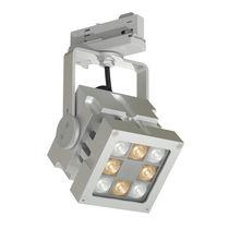 Éclairage sur rail à LED / carré / en aluminium / professionnel