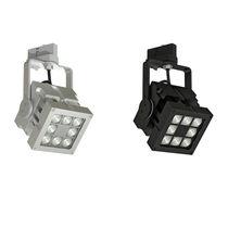 Éclairage sur rail à LED / carré / en métal / professionnel