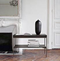 Table d'appoint contemporaine / en chêne / rectangulaire / avec rangement