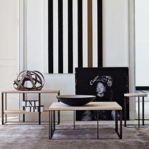 Table basse contemporaine / en bois / en marbre / circulaire