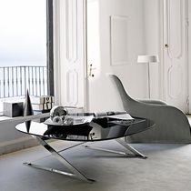 Table basse contemporaine / en marbre / en fibre de bois / ronde