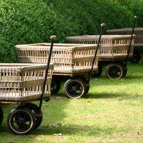 Chariot à bûches / en bois / en aluminium