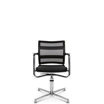 Chaise visiteur contemporaine / avec accoudoirs / tapissée / piètement étoile