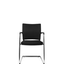 Chaise visiteur contemporaine / avec accoudoirs / tapissée / cantilever