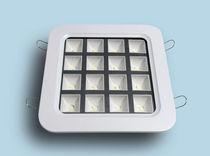 Downlight encastré / à LED / carré / en plastique