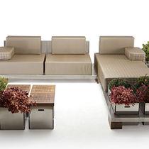 Canapé d'angle / modulable / contemporain / outdoor