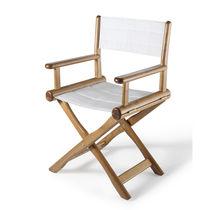 Chaise contemporaine / de metteur en scène / en tissu / en frêne