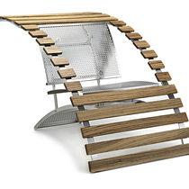 Chaise design original / inclinable / en bois courbé / en méthacrylate
