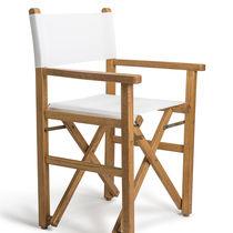 Chaise contemporaine / déhoussable / pliante / avec accoudoirs
