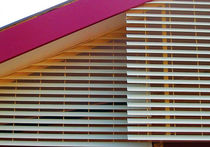 Brise-soleil aggloméré / pour façade