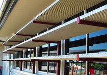Brise-soleil en aluminium / pour façade / accessible