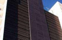 Grille de ventilation en aluminium / en acier / linéaire / pour façade
