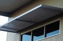 Auvent pour porte et fenêtre / en aluminium
