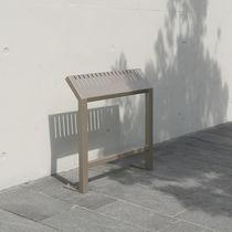 Banc assis-debout / public / contemporain / en acier