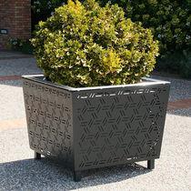 Jardinière en acier / carrée / contemporaine / pour espace public