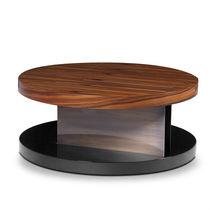 Table basse contemporaine / en bois laqué / en plaqué bois / en palissandre