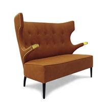 Canapé contemporain / en simili cuir / 2 places / à dossier haut