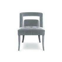 Chaise de salle à manger contemporaine / tapissée / en velours / professionnelle