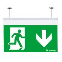 Éclairage de secours en saillie / encastrable au plafond / suspendu / rectangulaire