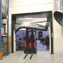 Porte industrielle enroulable / en PVC / automatique / coupe-feu