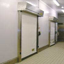 Porte industrielle enroulable / en PVC / automatique / à isolation thermique