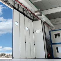 Porte industrielle coulissante / à empilement / en métal / automatique