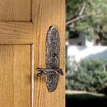 Poignée de porte / en bronze / contemporaine / avec serrure intégrée